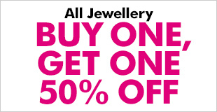 Buy One, Get One 50% Off Jewellery