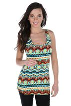 Tribal Print Clean Edge Boytank