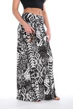 Tribal Print Foldover Maxi Skirt