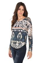 Printed Long Sleeve Sweater