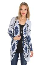 Aztec Sublimation Open Cardigan