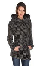 Polka-Dot Wool Look Coat