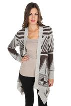 Aztec Pattern Open Cardigan