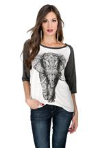 Elephant Screen Baseball Tee