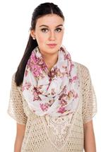 Floral Pattern Infinity Scarf