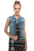 YMI Light Wash Denim Vest