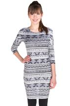 Aztec Print Hacci Dress