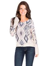 Sublimation Print High-Low Sweater