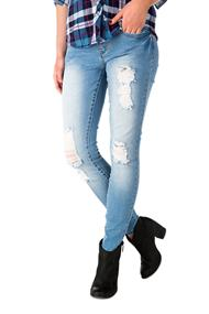 YMI Light Wash Distressed Skinny Jean