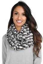 Mixed Chunky Knit Infinity Scarf