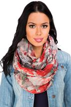 Watercolour Floral Infinity Scarf