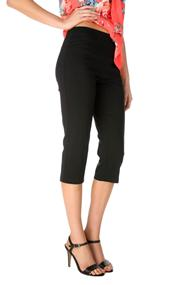 Pull-On Pleated Waistband Capri