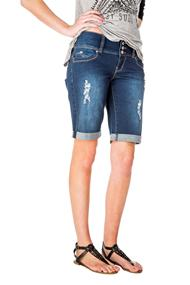 YMI Destructed Bermuda Short