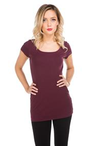 Essential Scoopneck Tunic Tee