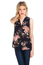 Zipper Floral Blouse