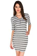 Shirttail Hem Striped Dress