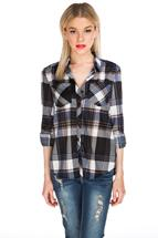 Roll-Up Sleeve Boyfriend Shirt