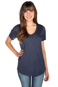 Rayon Melange T-shirt with Pocket