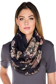 Floral Paisley Infinity Scarf