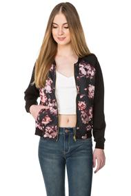 Floral Quilted Bomber Jacket