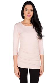 Essential Ruched Scoopneck Top