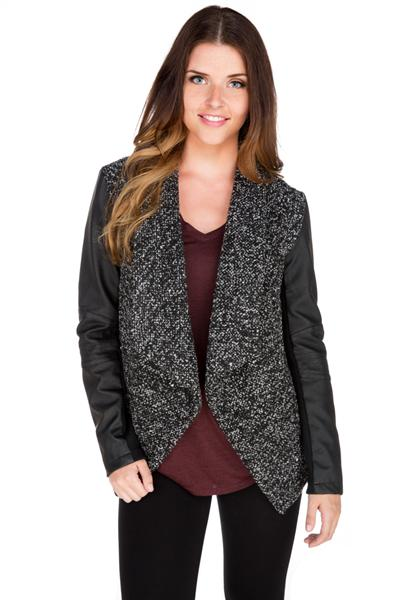 Bouclé Waterfall Jacket