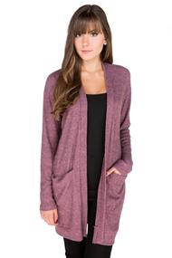 Ribbed Super Soft Open Cardigan