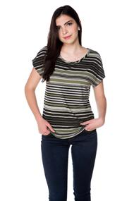 Ribbed Shirttail Hem Tee