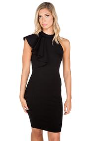 Ruffled Ponte Bodycon Dress