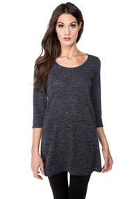 Textured 3/4 Sleeve Tunic