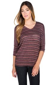 V-Neck Striped Sweater