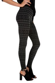 Aztec Fleece Lined Legging