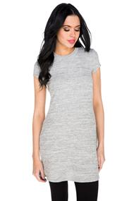 Cap Sleeve Dress with Shirttail Hem