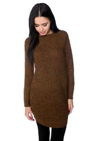 Long Sleeve Sweater Dress with Shirttail Hem