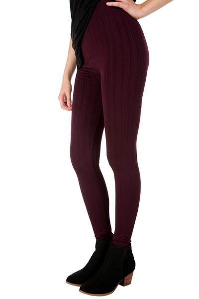 Cable Jacquard Fleece Lined Leggings