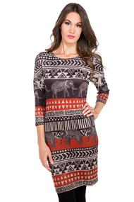 3/4 Sleeve Elephant Dress