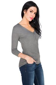 V-Neck Sweater with Zipper