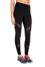 Legging with Mesh Inserts and Wide Waistband