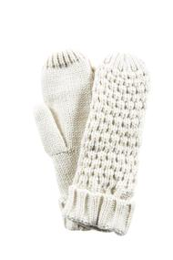 Solid Waffle Knit Mitten