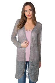 Long Sleeve Pointelle Duster