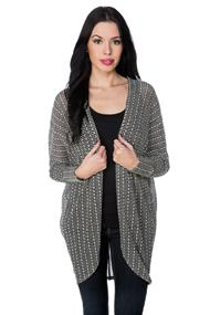 Novelty Knit Cocoon Cardigan