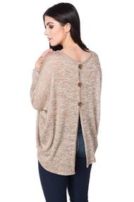 Oversized Tunic with Button Back Detail