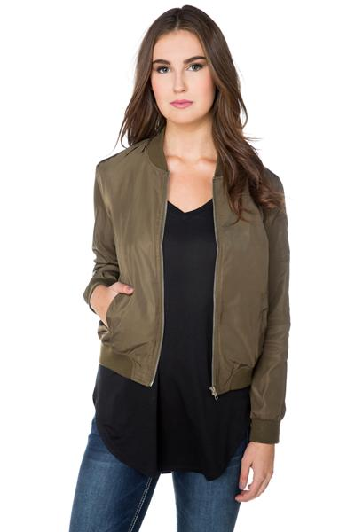 Bomber with Pockets