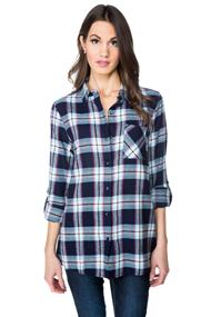 Becca Plaid Flannel Tunic