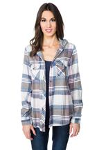 Janie Plaid Flannel Shirt with Hood