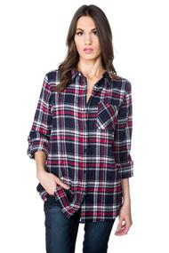 Everly Plaid Flannel Tunic