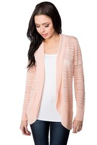 Pointelle Long Sleeve Cocoon Cardigan