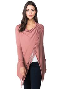 Shawl Sweater with Fringe