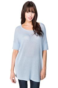 Open Knit Short Sleeve Sweater