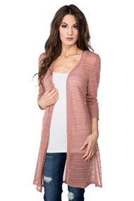 Pointelle Duster with Side Slits